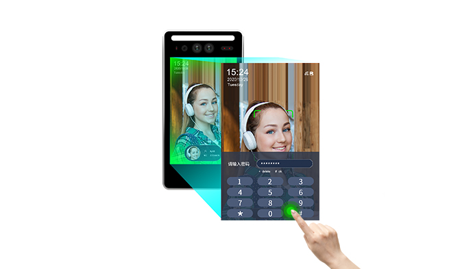 Face recognition temperature measuring terminal